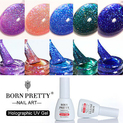Born Pretty Holographic Gel Nail Polish UV LED Laser Soak Off Gel Varnish Decor - Polish Decorations