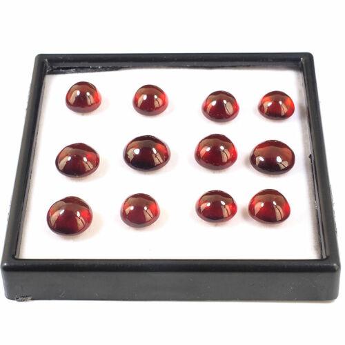 12 Pcs Natural Hessonite Garnet 11mm-13mm Round Top Quality Untreated Gemstones