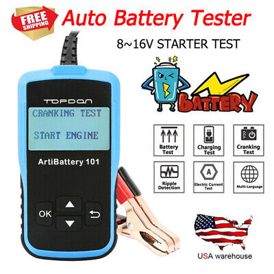 Car Battery Load Tester 12V 100-2000 CCA Automotive Bad Cell Test Tool Analyzer Car Battery Load Tester