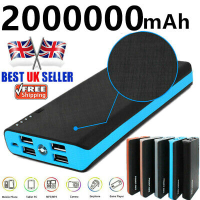 2000000mAh Power Bank LED 4 USB Backup Battery Charger for Mobile Phone 2020 NEW