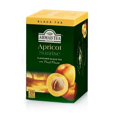 Ahmad Apricot Sunrise Black Tea  6 box of 20 ct Tea Bag, NEW for sale  Sun Valley