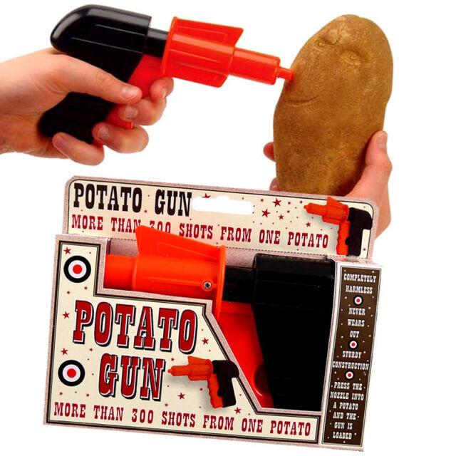 KIDS CHILDRENS POTATO SPUD GUN TOY CLASSIC RETRO PISTOL SHOOTER JOKE