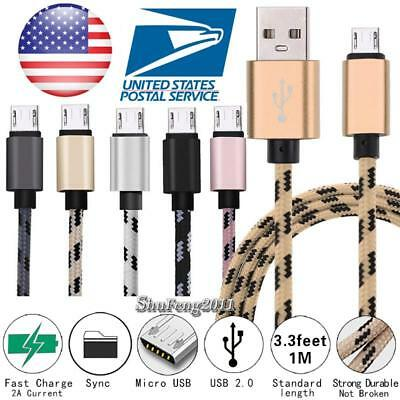 For Various RCA Tablet - Braided Fast Micro USB Charging Data Sync Charger Cable Rca Data Cable