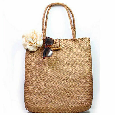 Women Casual Straw Bag Summer Beach Woven Bag Shoulder Bag Tote Shoulder HandBag