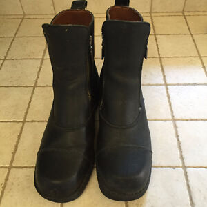 bottes de cuir noir Harley Davidson
