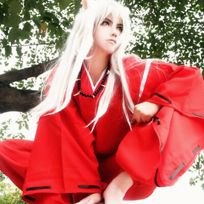 Cosonsen INUYASHA Red Kimono Cosplay Costume Male All (Male Cartoons Characters)