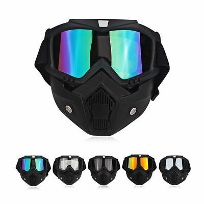 Modular Motorcycle Motocross Face Mask Goggles ATV MTB Off Road Eyewear Glasses Atv Off Road Goggles
