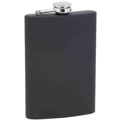 Maxam 8oz Stainless Steel Flask, Matte Black Soft-Touch Finish Matte Stainless Steel Flask