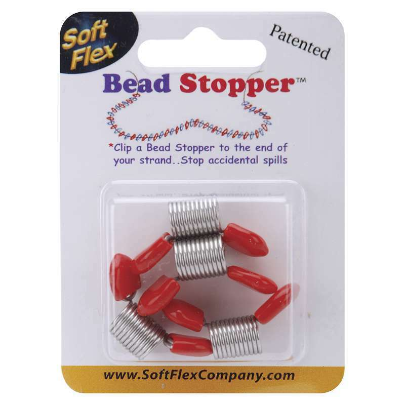 Bead Stoppers 4/Pkg Plastic Topped Metal 639336045845