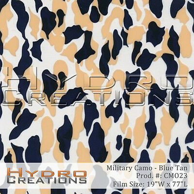 Hydrographic Film For Hydro Dipping Water Transfer Film Blue Tan Military Camo