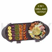 2 in 1 Electric Non-Stick BBQ Teppanyaki Grill Plate Steamboat Melbourne CBD Melbourne City Preview