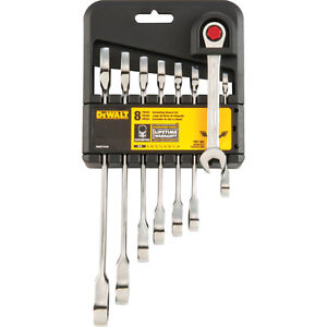 DeWalt DWMT74198 8 Piece Metric Ratcheting Combo Wrench Set