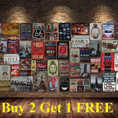 Retro Tin Sign Wall Decor Metal Bar Plaque Pub Poster Home Tavern - Shop Home Decor