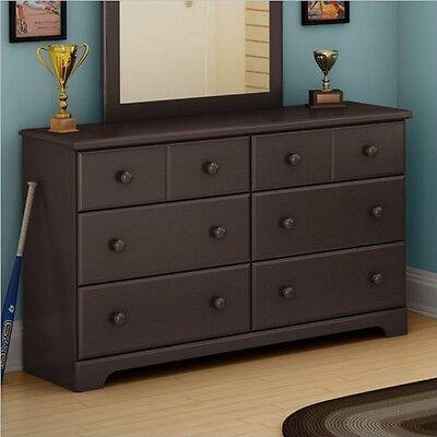 كومودينو جديد South Shore Summer Breeze 6-Drawer Double Dresser, Chocolate