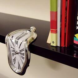 1PC Retro Vintage Distorted Melting Clock Wall Clock Home Bedroom Decor LA2