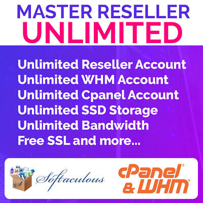 Master Reseller Hosting Unlimited Whm Cpanel 099 First Month Ssd Disk