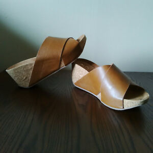 NWOT Aldo Leather Wedge Sandals