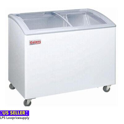 40 Glass Top Lid Sliding Door Commercial Store Display Chest Freezer Ice Cream
