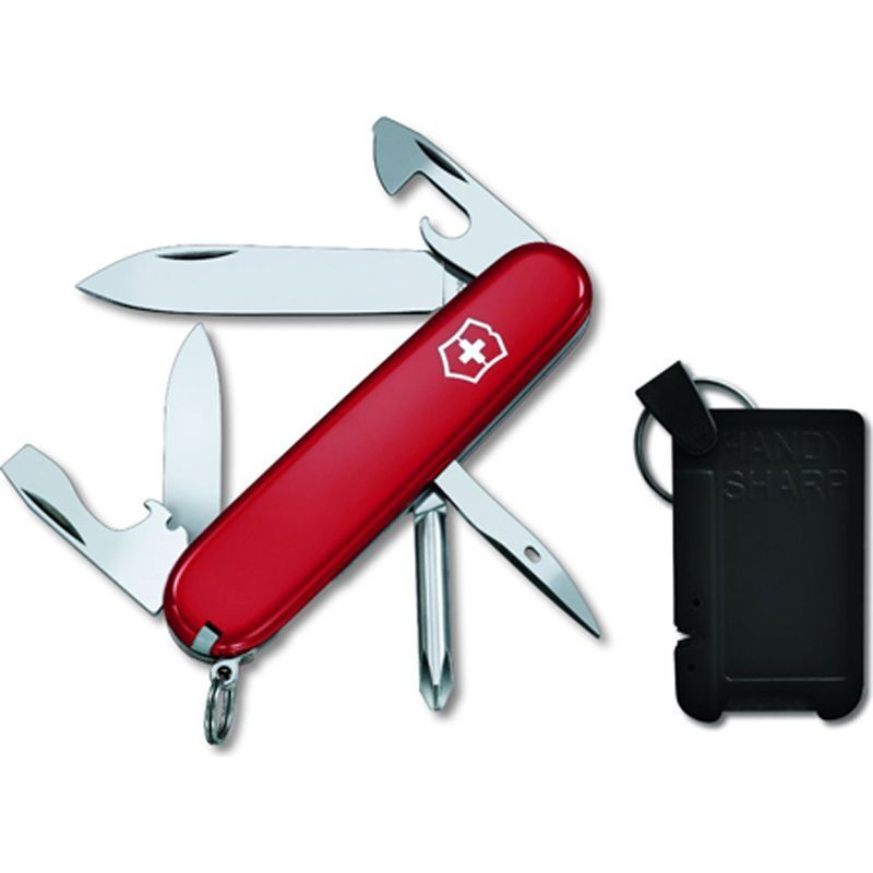 Knife - Swiss Army Knife, Red Tinker & Carbide Sharpener, Victorinox 59112, New In Box