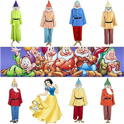 Snow White and Seven Dwarfs Costume Uniform Suit Halloween Adult Cosplay](Halloween Dwarf Costume)