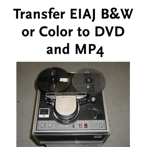 """Transfer Convert EIAJ-1 Helical 1/2"""" reel-to-reel Video tape to DVD and MP4"""