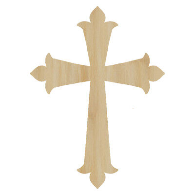 Laser Cut Out Wood Cross Wood Shape Craft Supply Unfinished Laser Wood Cross - Unfinished Wood Cross