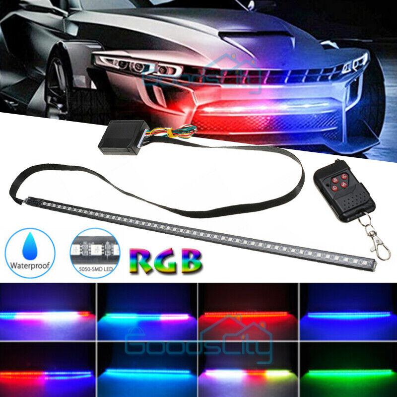 48 LED RGB Knight Rider Scanner Flash Car Strobe 7 Color Light Kit Strip 22 Inch