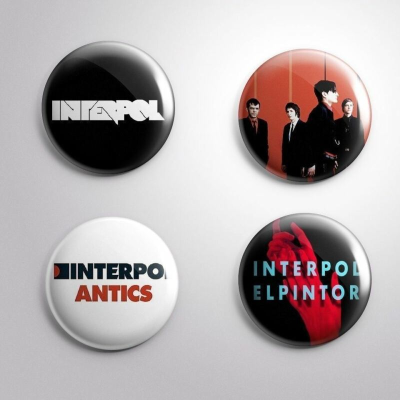 4 INTERPOL - Pinbacks Badge Button Pin 25mm 1