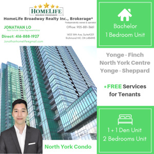 1 bedroom condo for lease -Yonge Finch/Sheppard/ North York
