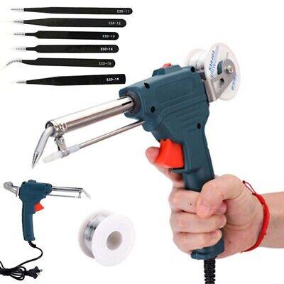60w 110v Electric Soldering Iron Gun With Solder Remover Solder Wire Tin Tweezer