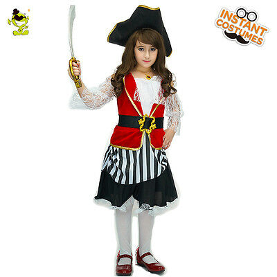 Girl Pirate Costumes For Halloween (Halloween Luxury Pirate costumes girls Kids Children party cosplay For)