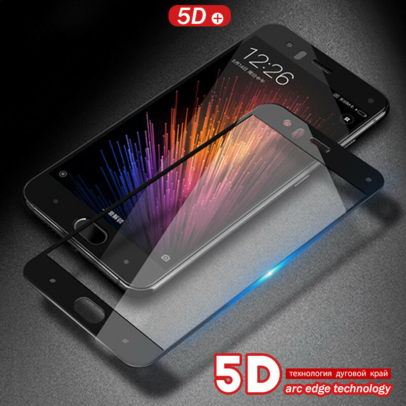 5D Full Cover Tempered Glass Screen Protector For Xiaomi Mi6 Redmi Note4X 5 Plus