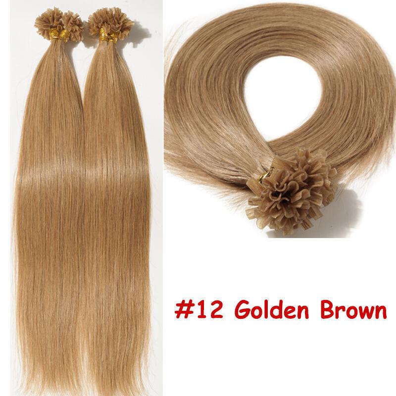 200s Uk Remy Pre Bonded Keratin Glue Nail U Tip Hair Extensions