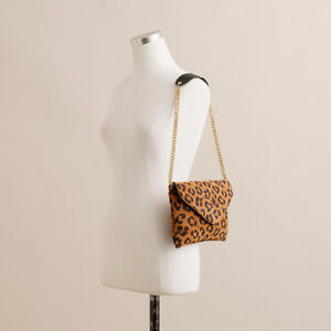 "J CREW Leopard SUEDE ""Invitation"" Envelope CLUTCH/CROSSBODY London Ontario image 1"