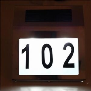 Outdoor house number sign ( new) Solar