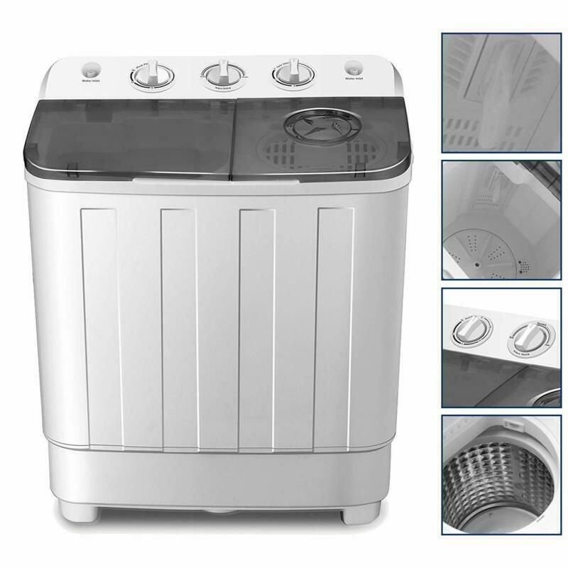4-Ever Portable Mini Compact Washing Machine Twin Tub Washer
