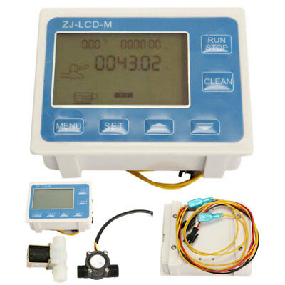 Water Flow Control Meter Lcd Display Flow Sensor Solenoid Valve Light Weight New