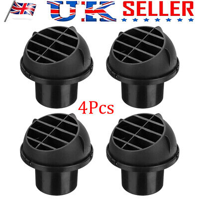 4PCS 60mm Car Heater Duct Hose Pipe Warm Air Outlet Vent For Webasto Eberspacher