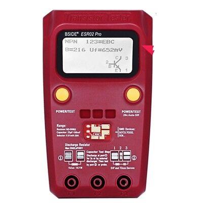 New Esr02 Pro Digital Transistor Tester Smd Chip Component Inductance Meter