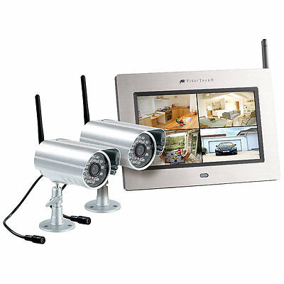 Funkkamera-System: Kabelloses Überwachungssystem mit 2 IR-Funk-Kameras