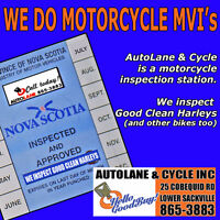 MOTORCYCLE MVI's @ Autolane & Cycle Inc. No Appointment Bedford Halifax Preview