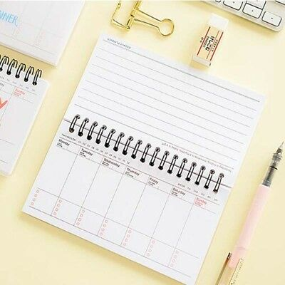 Cartoon Calendar Schedule Coil Notebook Agenda Kids Gifts Weekly Planner Notes