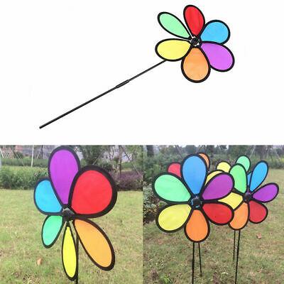 US Colorful Flower Windmill Wind Spinner Garden Park Outdoor Children Gift Toy](Flower Wind Spinner)