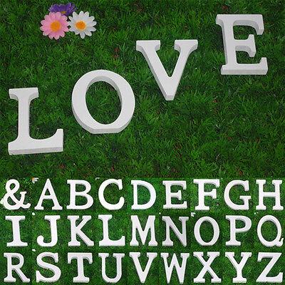 1x Große 26 Holzbuchstaben Wandbehang Nursery Partei Hochzeitsdeko WR ()