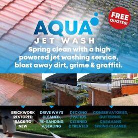 Aqua jet washing ....