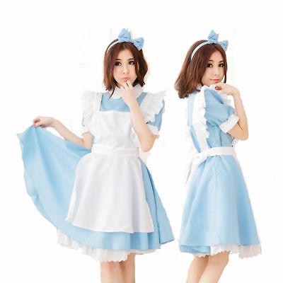 M/L Lolita  Alice im Wunderland Cosplay Anime Party  Kostüm süßes Magd (Magd Cosplay Kostüm)