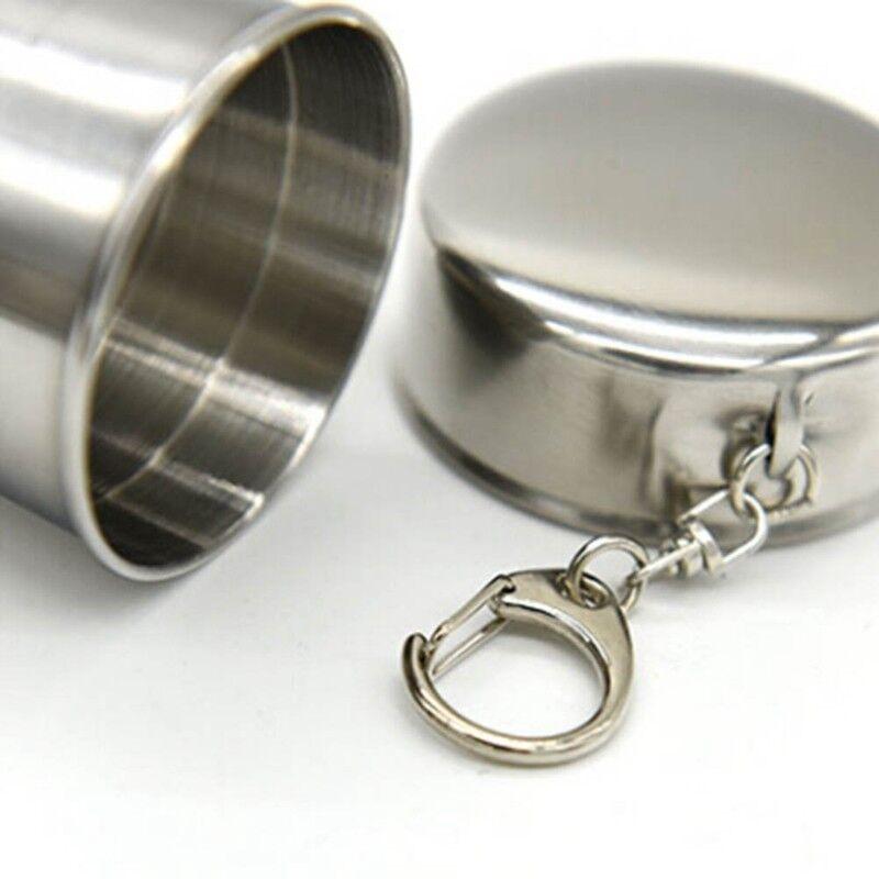 2 x Edelstahl Faltbecher Teleskopbecher Klapp Becher Tasse Cup DE eNwrg @97k