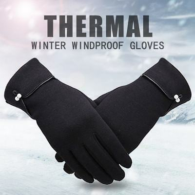 US Women Winter Gloves Warm Rub Screen Fleece Lined Driving Gloves for Ladies AI - Ladies Fleece Winter Glove