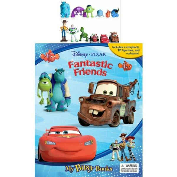 BN: Disney Pixar Fantastic Friends My Busy Book includes 12 figurines and a playmat