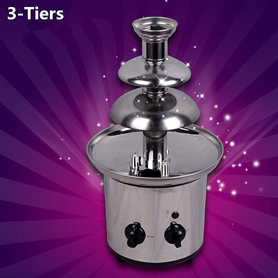 NEW Chocolate Fondue Fountain 3 Tier Stainless Steel Base Fountains BEST (Best Chocolate Fountains)